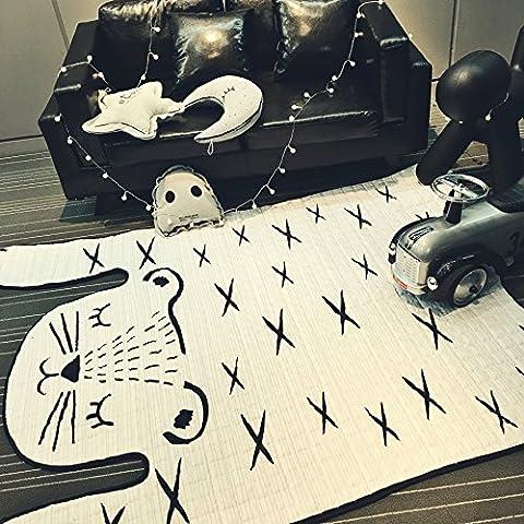 Modello-scorrevole gioco di stuoia di cotone stile striscia stuoia tappeto tigre , tigers , 130x185 (best advantage)