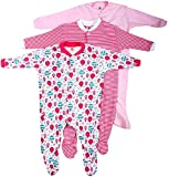 #6: Baby Grow Minni Berry Long Sleeve Cotton Sleep Suit Romper Set of 3 For Girls (3-6M)