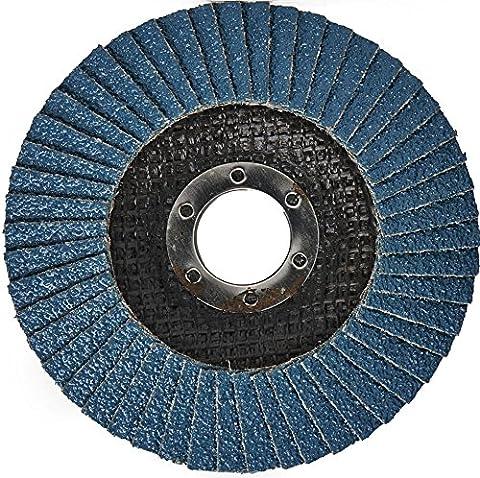 Disque Meuleuse Poncage - 2pièces Ensemble de Flap disque 125mm P80Disque