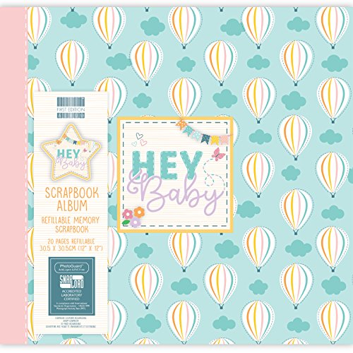 First Edition 30,5 x 30,5 cm Hey Baby Album – Hot Air Luftballons, Papier, mehrfarbig, 30,5 x 30,5 x 1,5 cm