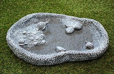 Vogeltränke Wasserbecken Steinguss Schiefergrau von Tiefes GbR bei Du und dein Garten