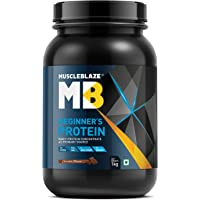 MuscleBlaze Beginner's Whey Protein Supplement (Chocolate, 1 Kg)