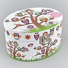Joyero Musical Ovalado Owls Think Pink