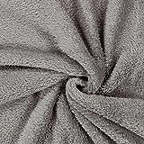 Teddy Plüsch Kuschel grau — Meterware ab 0,5 m — zum