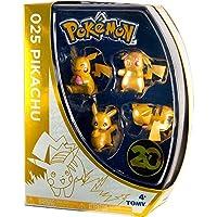 Pokemon T18725 - 20th Anniversary - Sonderausgabe Pikachu, Packung mit 4 Mini Figuren