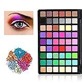 54 Farben Lidschatten Palette Makeup Eyeshadow, KRABICE Nudetöne Augenpalette Kosmetische Matte Schimmer Eyeshadow Make Up Kosmetik Schminkpalette Augenschminke Paletten - #2