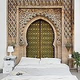 Apalis Vliestapete Oriental Gate Fototapete Quadrat | Vlies Tapete Wandtapete Wandbild Foto 3D Fototapete für Schlafzimmer Wohnzimmer Küche | Größe: 192x192 cm, beige, 95427