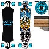 Deuba Longboard Original Atlantic Rift Dropdown-Bauweise - ABEC 9 Lager Komplettboard Skateboard Rift Blade