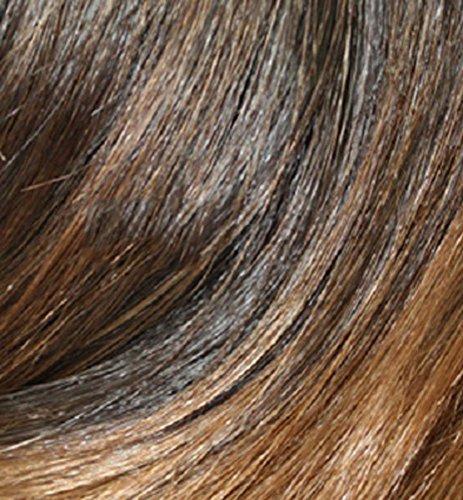 Haute Für Divas Celebrity Inspiriert Fischschwanz Falte Clip In 55.9cm Pferdeschwanz Zopf Haarverlängerung Haarteil - 4/27 Dunkelbraun und Karamell, 55cm (Karamell-farbton)