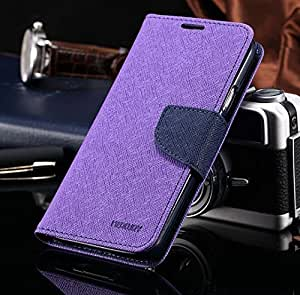 KTS Mercury Wallet Flip Cover Samsung Galaxy Note 3 Neo Purple