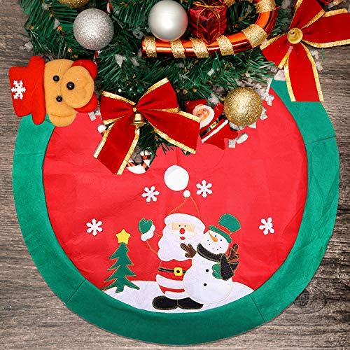 Mbuynow zogin tappetino per la base dell'albero di natale copre il piede dell'albero nascondendo il brutto piedistallo di ferro decorazioni natalizie - 100cm