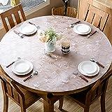 XKQWAN Roundtable Tischdecken Wasserdicht ?l-beweis Einweg Runde [esstisch Weichen tuch Glas Pad Durchsichtige Frosted Tischtuch-C Durchmesser80cm(31inch)
