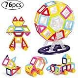 #7: Kurtzy Magnetic Building Block DIY Construction Puzzle Toy Set for Kids Children Learning Educational Creative Activity with Certified by BIS 76 Pcs