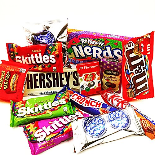 oreo-white-choc-skittles-mms-wonka-nerds-harry-potter-bertie-jelly-belly-kit-kat-hersheys-reeses-pea