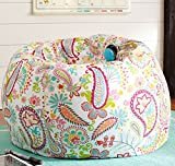#10: Style Crome Paislay Design, Cotton Canvas Comfort Printed Bean Bag Cover Filled With Bean- Size Xxl