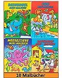 Libetui 10 Malbücher Mini Malbuch Größe b6 17,6 x12,5cm Mitgebsel Kinderparty Hochzeit Geschenk Kindergeburtstag hergestellt von Libetui