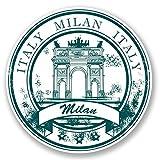 2 x 30cm/300 mm Milan Italie Autocollant de fenêtre en verre Voiture Van Locations #5834