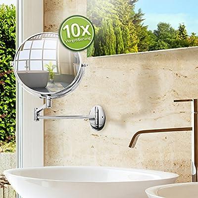 casa pura® Kosmetikspiegel für die Wandmontage | 3 hohe Vergrößerungsgrade wählbar von Casa Pura auf Spiegel Online Shop