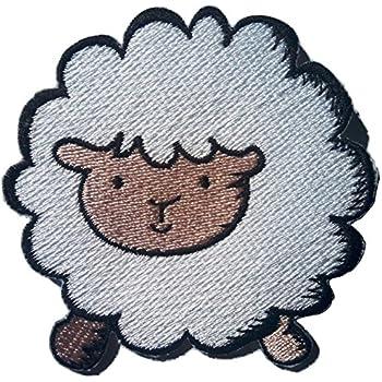 Le mouton blanche 8 cm Ecusson enfant patch thermocollant enfant fille bebe patch applique broderie pour vêtement vetements ecusson thermocollant enfant