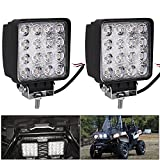 Nestling®2 X 48W LED Headlights Work & Backup Lamp LED Lamp 12V 24V Floodlight Reflector Headlight Work Light SUV, UTV, ATV Offroad worklight auxiliary lights