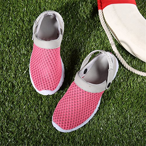 SAGUARO® Sommer Garten Clogs Sandalen Outdoor Freizeit Slippers Schlappen Hausschuhe Schuhe Damen Herren Kinder Rose