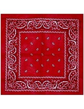 Bandana rouge style Paisley Ca