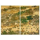 JIANFEI-Bambusrollo raffrollo Lichtfilterung Trennwand Vorhang Anti-Sonne Insektenbekämpfung, 3 Farben, 23 Größen Kann Angepasst Werden (Farbe : 2#, größe : 240x180cm)
