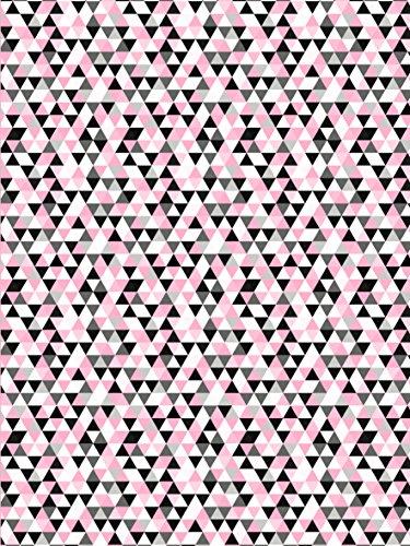 Decopatch Papier No. 699 (lachs schwarz Dreieck, 395 x 298 mm) 3er Pack