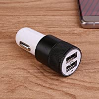 Haihuic 2 in 1 USB Car Auto Charger Charging Cigarette Socket Lighter 2.1A Universal