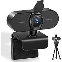 Webcam mit Mikrofon für PC, Webcam HD 1080P Streaming Webcam usb mikrofon für MAC, Laptop, Plug and Play USB Kamera für…