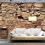 murando - XXXL Fototapete 600x280 cm - Größe Format 6m - Vlies Tapete - Moderne Wanddeko - Design Tapete - Steine Stein Steinoptik 3D Mauer f-A-0496-x-f