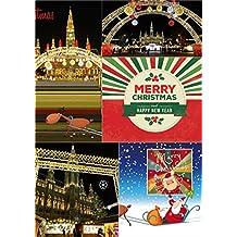 Weihnachtskarten zum Selberdrucken 2: 5 Karten (Klappkarten und Postkarten) (Big Pictures Cards)