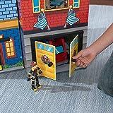 KidKraft 63239 Everyday Heroes Spielset aus Holz für Kinder mit Zubehör inklusiv Feuerwehrauto, Polizeiauto, Helikopter und Actionfiguren Test