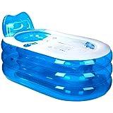 Baignoire Gonflable d'épaississement, Baignoire Adulte PVC, Baignoire Pliable en Plastique, Seau (L x L x H: 145 * 80 * 70cm)
