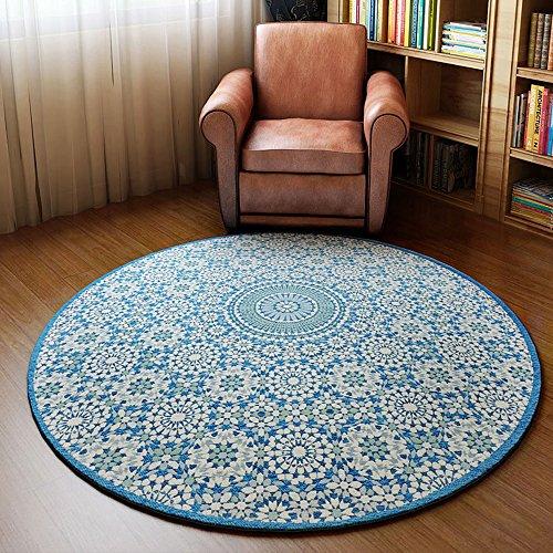 RUG XIA Teppich-Teppich-runde geometrische Muster 90 * 90cm 120 * 120cm Studie (größe : 90 * 90cm) -