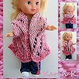 Puppenschal in Rosa und Rosé in wunderschönem Farbverlauf, gestrickt aus BIO- Baumwolle von Lana Grossa