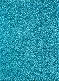 A2Z RUG Langflor 5cm Shaggy Teppich Hochflor Teppiche, Blau 80x150 cm Viele Größen und Farben Vorhanden, Ideal für Wohnzimmer, Esszimmer und Schlafzimmer