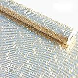 KeTian Rouleau de Papier Peint Épais Fond Mosaïque Feuille d'Or Moderne Luxe Plafond d'Hôtel/Décoratif/Barre de Rouleau de Papier Peint , PVC, Doré pâle, 0.53m (1.73' W) x 10m(32.8'L)=5.3m2 (57 sq.ft)