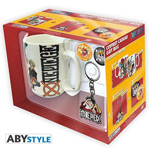 ONE PIECE - Pck Mug + Keychain + Badges New World