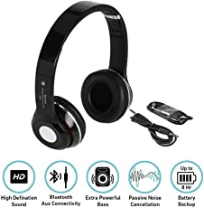 Esportic S460 Foldable On-ear Wireless Stereo Bluetooth Headphones Supports MP3, FM & TF Card Reader for all Smartphones (Colour May Vary)