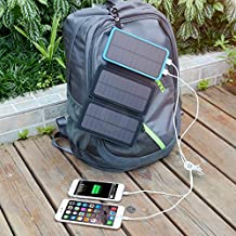 Foldable Solar Charging Panel Charger Power Bank 8000mAH