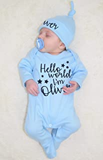 Im Luna Personalized Name Baby Romper World Hello