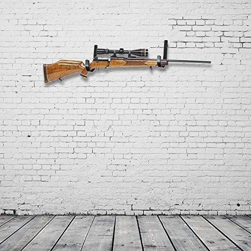 Gun Rack Shotgun Hooks Rifle Hangers Archery Bow Felt Lined Wall Mount Storage