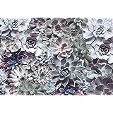 """Komar 8-962368x 254cm """"Shades Strukturierte Blumenmuster Tapete-Grün (8Stück)"""