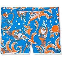Speedo Solarpop Essential Allover Pantalones Cortos, Niños, Azul (neón) / Naranja (Fluorescente) / Blanco, 5YRS