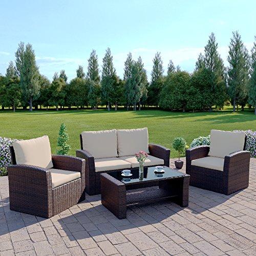 Rattan Sofa Garden Furniture Amazoncouk