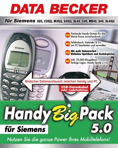 Nt-handys (Handy Big Pack 5.0 für Siemens S25, C35(i), M35(i), S35(i), SL42, C45, ME45, S45, SL45(i), 1 CD-ROM m. USB-Datenkabel Einfacher Datenaustausch zwischen Handy und PC. Für Windows 98/ME/NT 4/2000/XP)