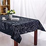 WanJiaMen'Shop Continental Esstische Schwarze Blätter Esstische Minimalistischen Kleines Handtuch über die Abdeckung der Tischdecke, 140 * 140 cm Handtuch