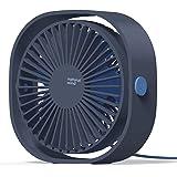 COMLIFE Mini Ventilateur USB, Ventilateur Puissant de Bureau, Ventilateur de Table Personnel avec 3 Vitesses et Rotation à 36