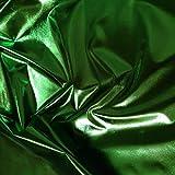 Stretchfolie Smaragd Grün Metallic Shiny lahm Tricot für